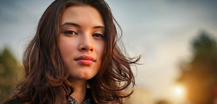 woman looking determined and confident as she turns her life around