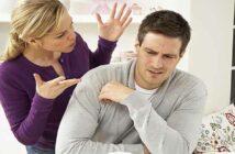 woman nagging her husband or boyfriend