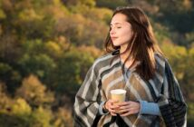 young woman in nature changing her outlook on life